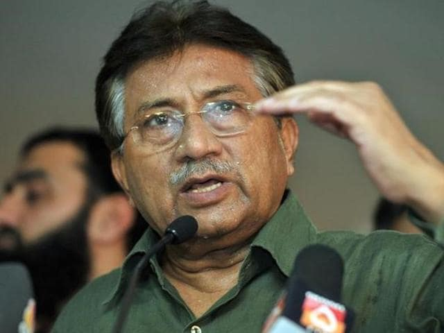 Pakistan's former President Pervez Musharraf  at a news conference in Dubai in March 2013.
