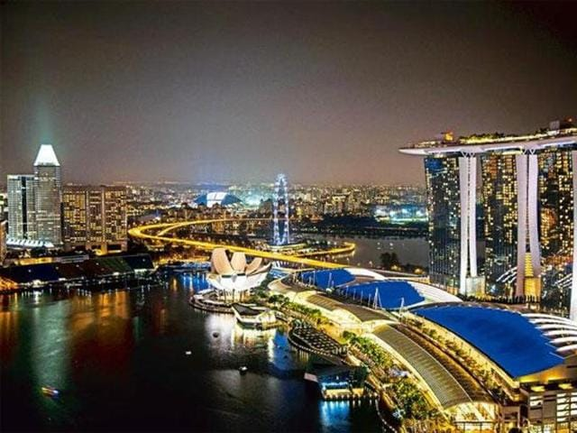 View of Marina Bay in Thailand.