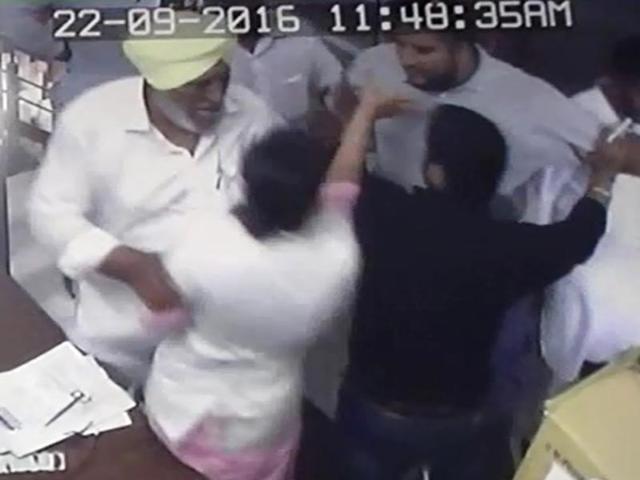 WATCHVIDEO: Akali sarpanch's husband, son assault pregnant nurse at Moga village