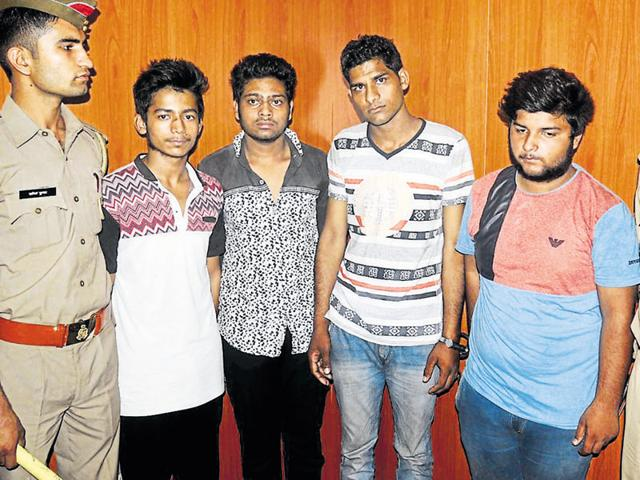 The accused — identified as Rohit, Sagar Chauhan, Yash Tyagi and Prince Tyagi — allegedly robbed the B.Tech student, Ravi Shankar, around 4pm on Tuesday.