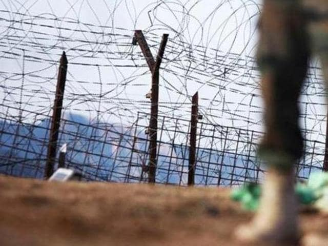 An Indian army soldier near the line of control in Mendhar, Poonch district, about 210 kilometers from Jammu.