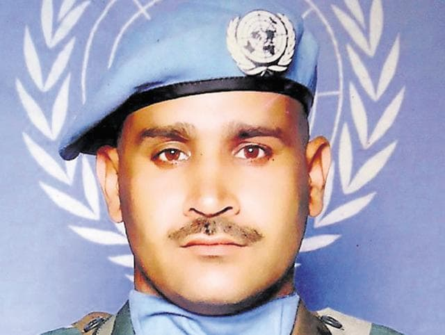 Havildar Madan Lal who was killed in an encounter on Tuesday.