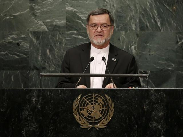 """Afghanistan's vice-president Sarwar Danesh told the General Assembly summit, """"We have repeatedly asked our neighbouring country Pakistan to destroy the known terrorist safe havens, but we unfortunately are yet to witness any change in the situation."""""""