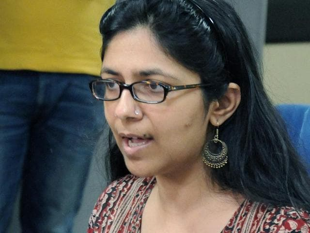Delhi Commission of Women chief, Swati Maliwal, during a raid on GB Road incentral Delhi. Maliwal has alleged that the flesh trade in the area is being supported by a Union minister and senior political leader.