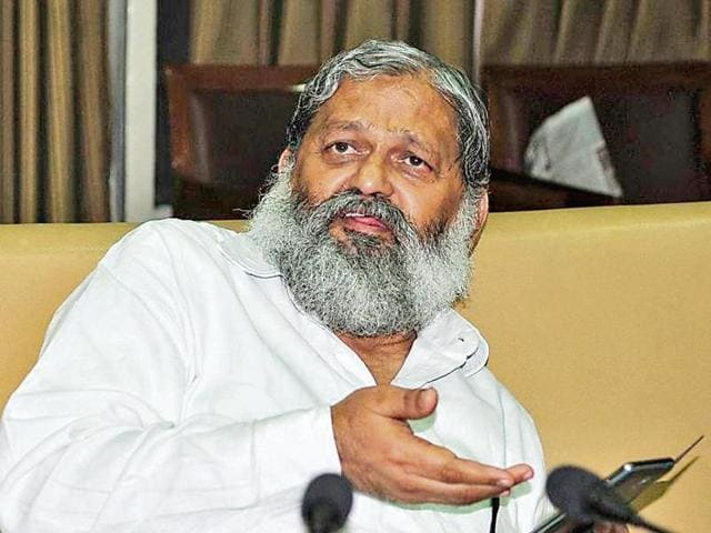 Haryana  sports minister Anil vij