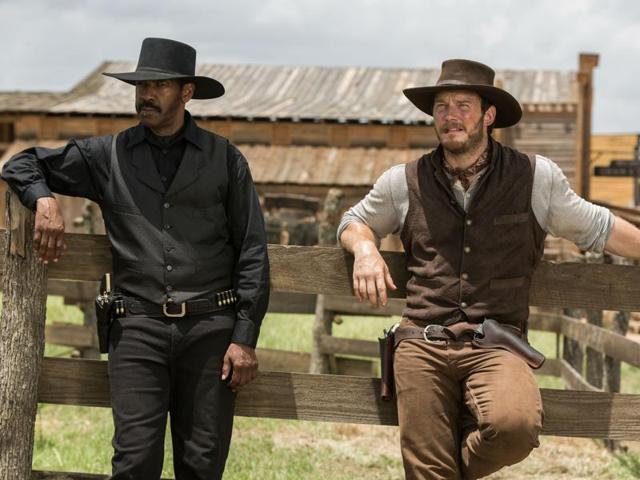 Denzel Washington and Chris Pratt star in The Magnificent Seven.