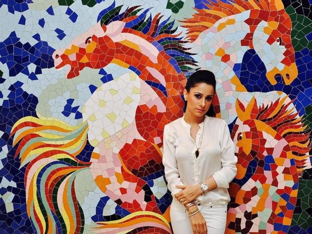 Rouble says she prefers murals and installations to paintings