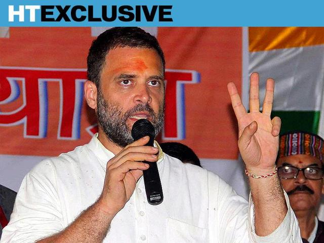 """Congress vice-president Rahul Gandhi said BJP-PDP alliance in J&K was responsible for creating a space for """"terrorists""""."""