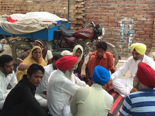 Relatives at the victims' house in Faridkot on Friday.