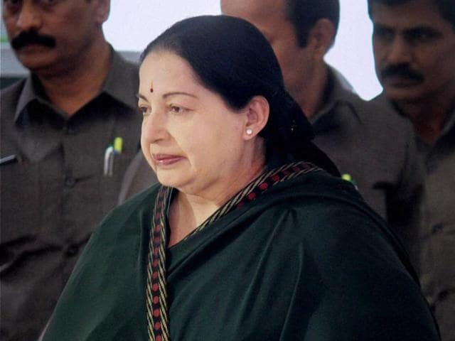 Chennai: Tamil Nadu Chief Minister J Jayalalithaa during flagging off ceremony of