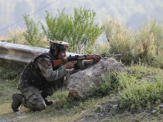 Army soldiers take position near the army base which was attacked by militants in Kashmir's Uri on September 18, 2016. The Associated Press referred to the attackers as 'rebels'.
