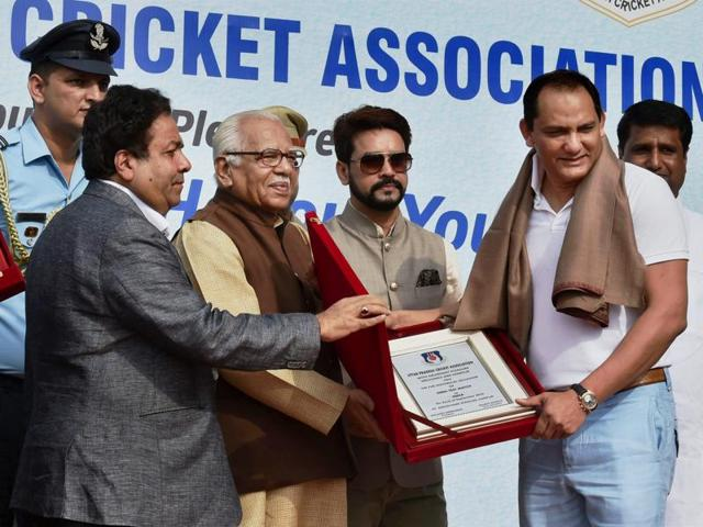 Azhar was among the former India Test skippers honoured on the occasion of the 500th Test match.