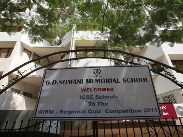 HT Top Schools Survey 2016,Mumbai,GD Somani Memorial School