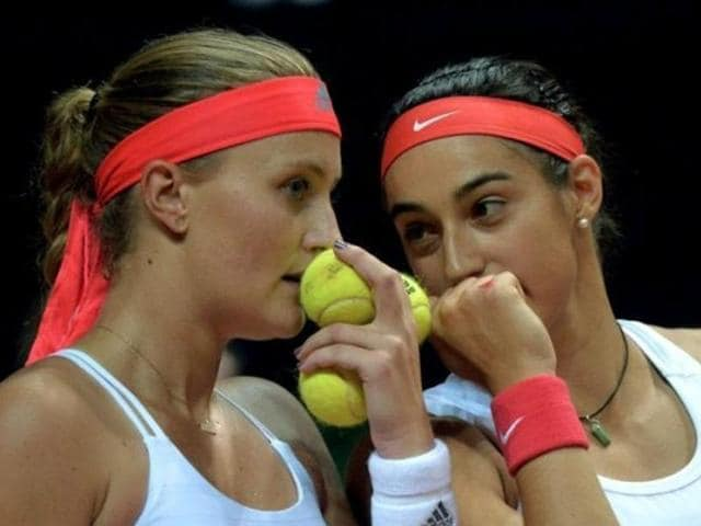 Kristina Mladenovic and Caroline Garcia can play for France in the Fed Cup final against the Czech Republic.