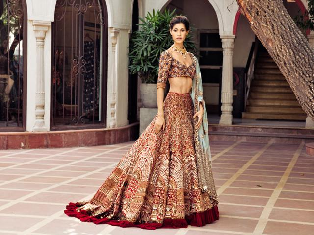 Manish Malhotra Lehengas With Trails And Embroidery On