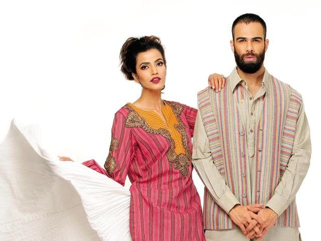 When desi designs bedazzle...Snapshots from the designer's collection for Khadi India