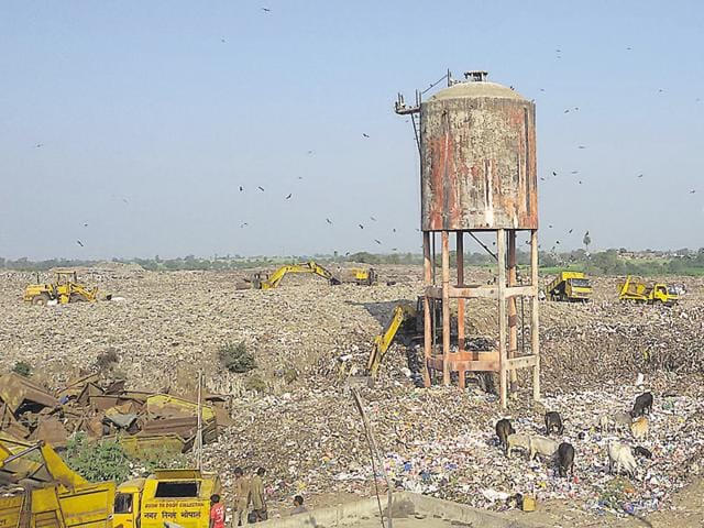 Bhanpur dumping site — Bhopal's only landfill site.