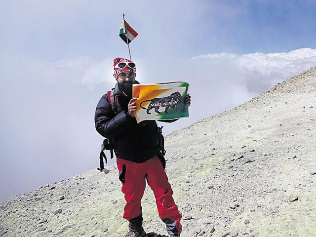 Ratnesh Pandey scaled the heights of Mount Damavand and Mount Sabalan in Iran.