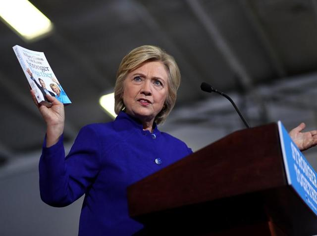 The New York Times endorsed Democrat Hillary Clinton for the White House on Saturday.
