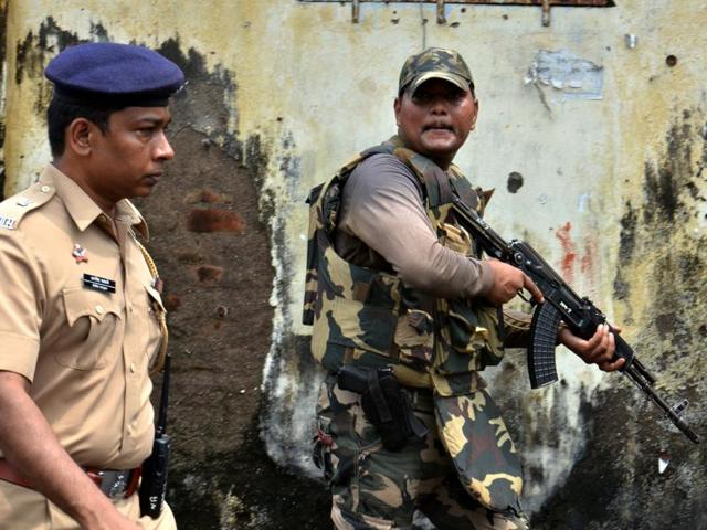 A quick response team conduted a search operation at Uran in Navi Mumbai on Friday
