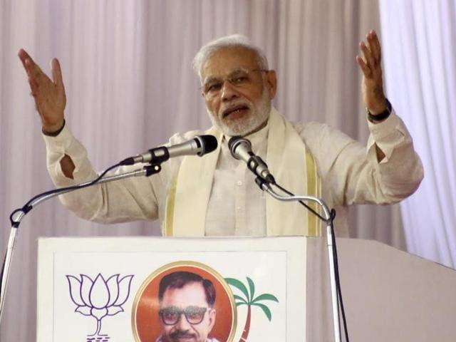 Prime Minister Narendra Modi in Kozhikode on Saturday.