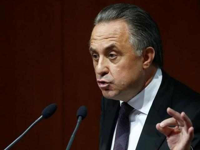 Russian Sports Minister Vitaly Mutko delivers a speech during the Russian Soccer Union presidential vote at its conference in Moscow, Russia, September 24, 2016. REUTERS/Sergei Karpukhin