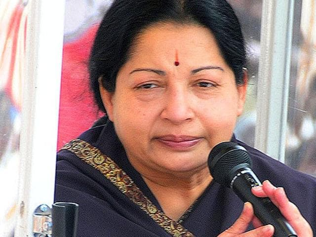 Tamil Nadu chief minister J Jayalalithaa. (HT File Photo)