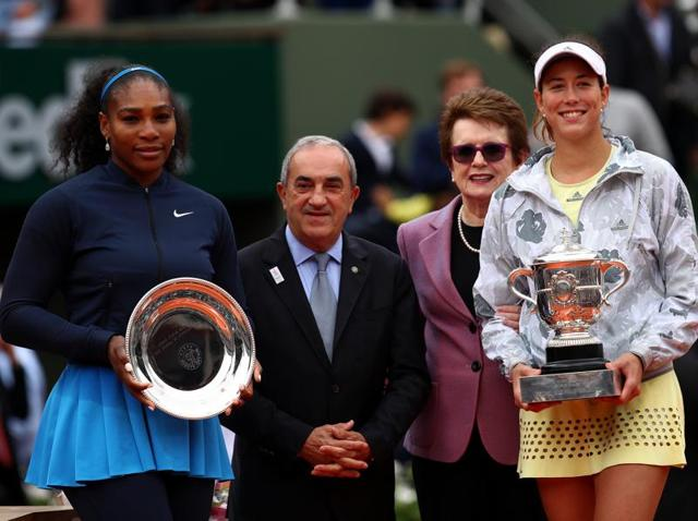 Garbine beat Serena to win this year's French Open, her first Grand Slam title.