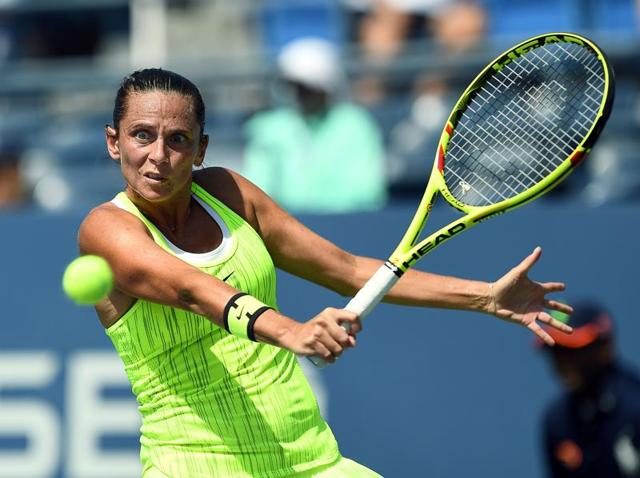 Roberta Vinci downed Olympic gold medallist Monica Puig in the first round of the Wuhan Open on Sunday.(AFP)