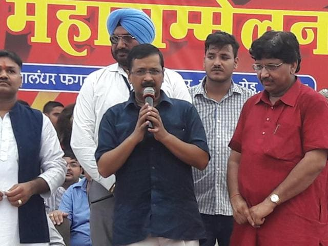 The Delhi CM was in Jalandhar as the chief guest of the Agrasen Jayanti Samaroh celebrations, organised by the Aggarwal community.