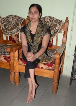 Bhopal: Physically challenged Laxmi Yadav at her residence.