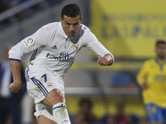 Ronaldo sulked off the field visibly frustrated in Real Madrid's 2-2 draw at Las Palmas.