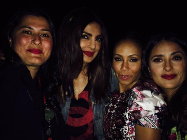 Priyanka Chopra parties with Salma Hayek and Jada Pinkett Smith.