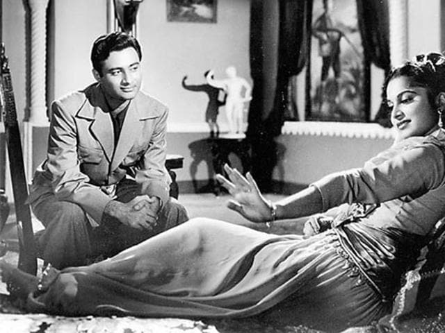 Dev Anand and Waheeda Rehman in a still from CID.