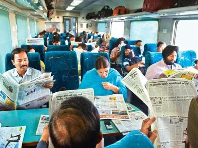 """""""A newspaper turns into public property as soon as you board a bus or a train with it."""""""