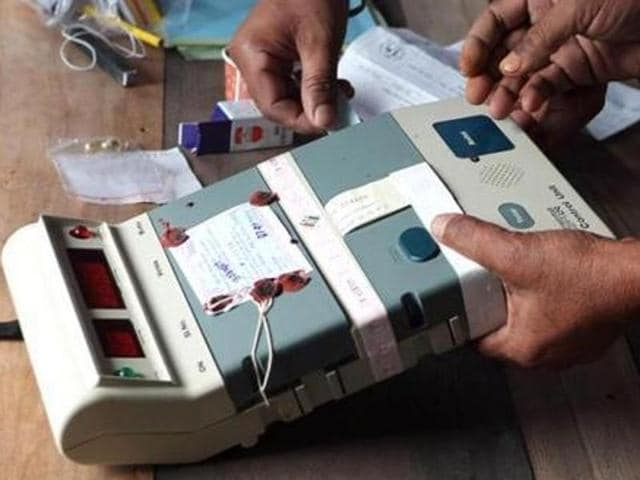 """All the EVMs have come from other states, like Jammu and Kashmir, Karnataka, Jharkhand and Bihar. We will not use old EVMs,"" Punjab chief electoral officer, V K Singh said.(HT File)"