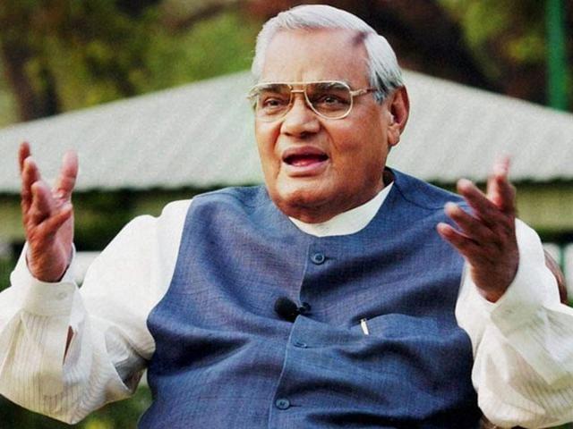 File photo of former PM Atal Bihari Vajpayee.