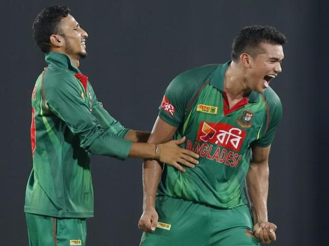 With Afghanistan needing 13 off the final over, Taskin held his nerve to concede just five.