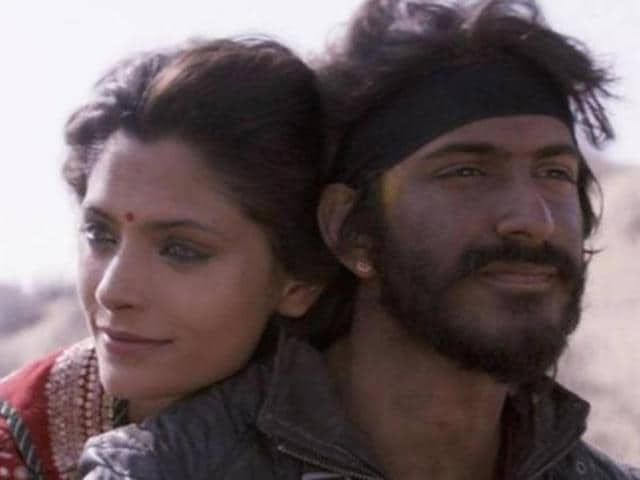 Harshvardhan Kapoor with co-star, Saiyami Kher in their debut film, Mirzya.