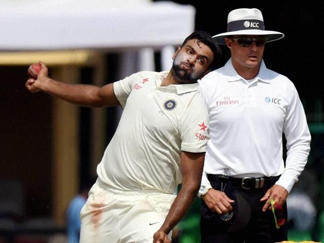 Indian cricket team player Ravichandran Ashwin and Murali Vijay celebrates the victory over New Zealand.