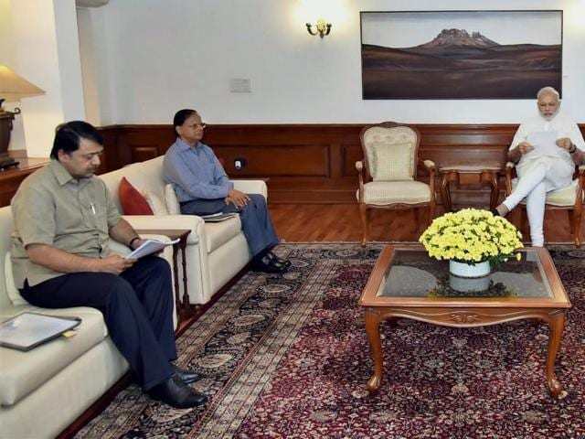 Prime Minister Narendra Modi chairs a meeting on Indus Water Treaty in New Delhi on Monday.