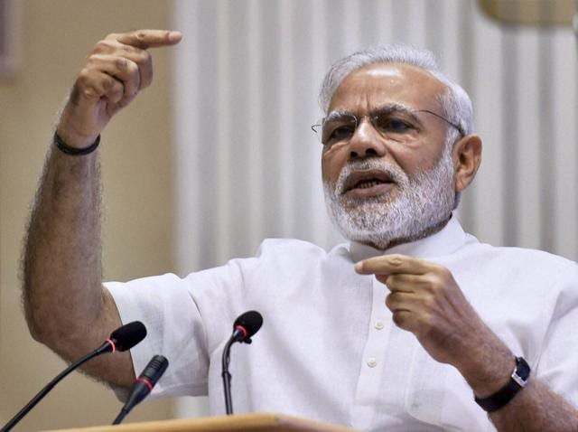 Prime Minister Narendra Modi addresses the Council for Scientific & Industrial Research (CSIR) Platinum Jubilee Celebrations in New Delhi on Monday.