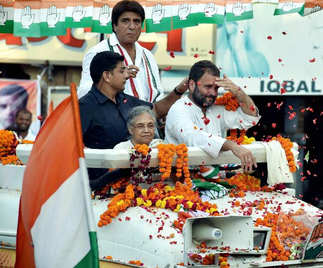 A shoe was thrown at Congress Vice President Rahul Gandhi's during his Kisan Yatra in Lucknow todaty.