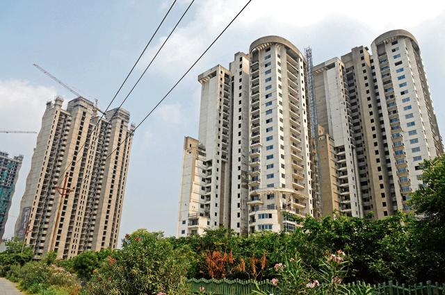 Many realtors in Sector 107 are yet to resume work on incomplete housing projects.