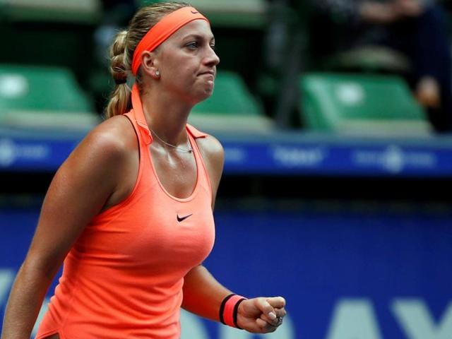 Kvitova served six aces to sweep to a 6-3, 6-1 victory against Latvian Jelena Ostapenko.