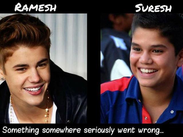 Arjun Tendulkar looks a lot like Justin Biber.