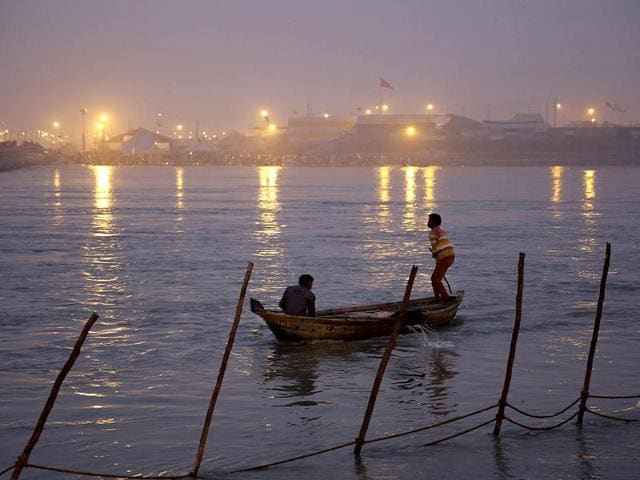 The mythical Saraswati forms the Hindu holy triumvirate along with the Ganga and Yamuna, and the hypothetical confluence of these three rivers in Allahabad is the source of humanity's biggest gathering every 12 years during the Kumbh Mela.