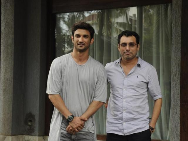 Sushant Singh Rajput and filmmaker Neeraj Pandey during a press conference.