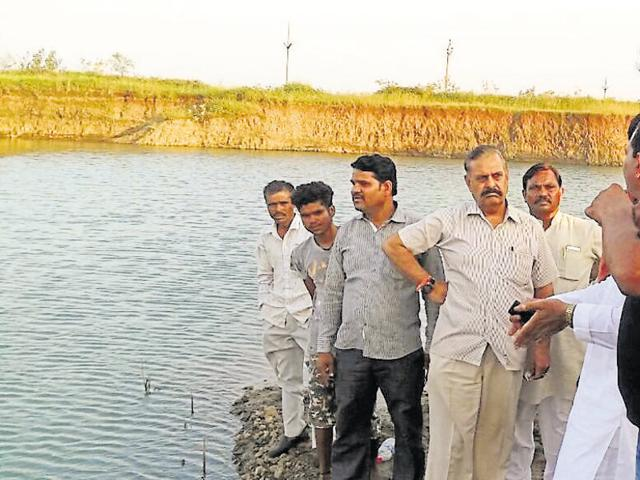 On Sunday, seven children drowned while bathing in this water-filled stone quarry in Guna district.
