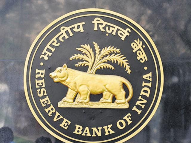 The logo of the Reserve Bank of India (RBI) outside its headquarters in Mumbai.